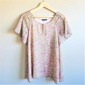 Clearance. Tommy Hilfiger Romantic Floral Blouse.